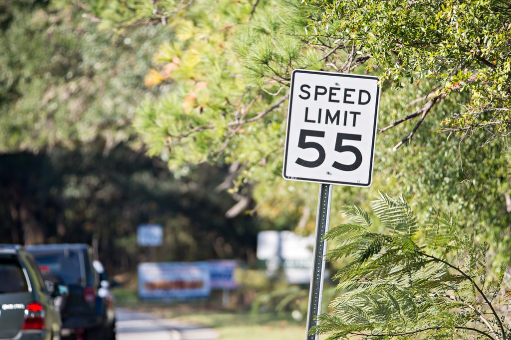 A new limit to speeding against a sign is available